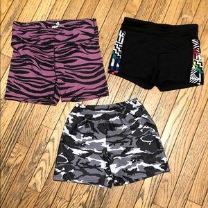 Pants - Yoga Bike Spandex Shorts Bundle sz Small Camo Pink